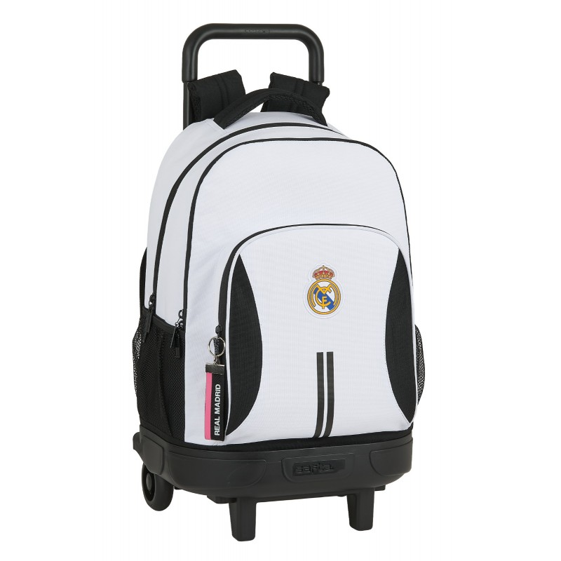 Compact Real Madrid Backpack with Wheels