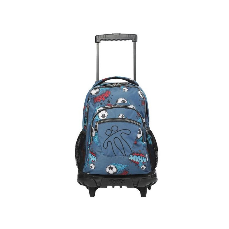 School backpack Totto with wheels -...